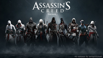 assassins creed, протагонисты из разных частей