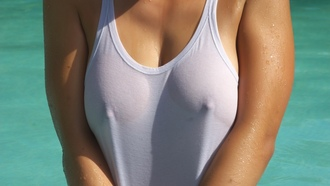wet tshirt, nipples, closeup, wet, breathtakers