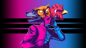 hotline miami, арт, rasmus mask, richard mask, dennis mask, dennaton games