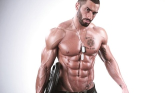 sixpack, body, tanned, fitness, lazar, angelov