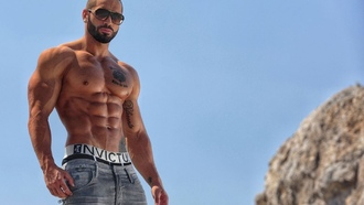 fitness, abs, sixpack, tanned, lazar, angelov