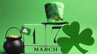 saint, patrick, day, happy