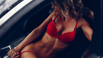 red, tits, sixpack, tanned, perfect, beautifull