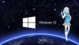 windows 10, аниме, космос