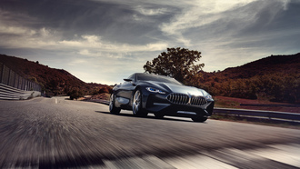 concept, bmw, concept car, 8 Series, концепт кар бмв, бмв 8 серия, концепт кар, вид спереди, на трассе