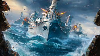 world of warships, атака