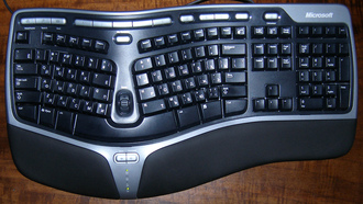 Microsoft Natural Ergonomic Keyboard 4000 v1.0, клавиатура, эргономичная