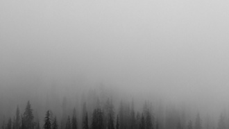 утро, туман, minimal, mountain, wood, nature, iphone, ipad, retina