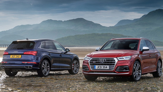 audi, sq5, car wallpaper, blue and red, aуди, машины 2018, cинии и красныи