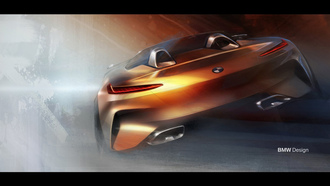 арт, бмв, родстер z4, concept z4, bmw, z4, car wallpaper, машины 2018, art, illustration