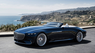 mercedes vision, maybach 6, машины 2018, мерседес, car wallpaper, концепт кар, mercedes, мерседес концепт кар, cabriolet