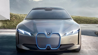 bmw, dynamics, concept car, bmw vision, машины 2017, концепт кар, бмв, бмв концепт, вид спереди