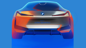 bmw, dynamics, concept car, bmw vision, машины 2017, концепт кар, бмв, бмв концепт, вид сзади, концепт арт, арт