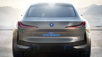 bmw, dynamics, concept car, bmw vision, машины 2017, концепт кар, бмв, бмв концепт, вид сзади
