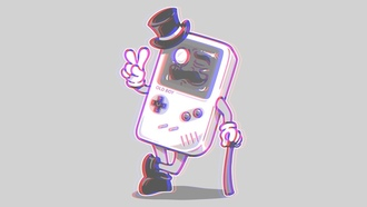 gameboy, 3d обои, anaglyph