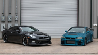 tuning, japan, nissan, nismo, black, skyline