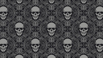 skull tiles, background, gray, skull