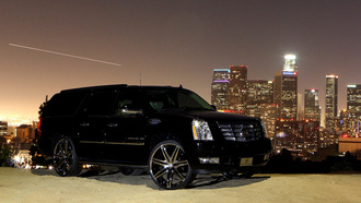 escalade, black, cadillac