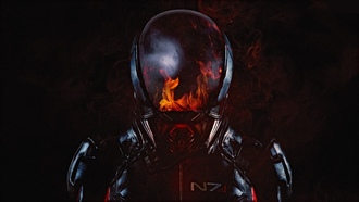 mass effect, andromeda, fire