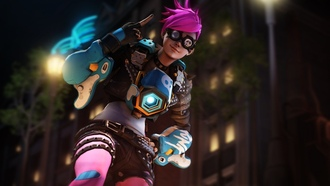 punk tracer, overwatch, wall