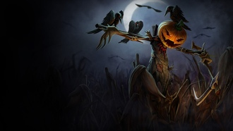 spooky, night, moon, alloween