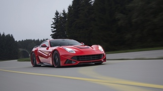 berlinetta, ferrari, novitec rosso, speed, f12, road, nlargo