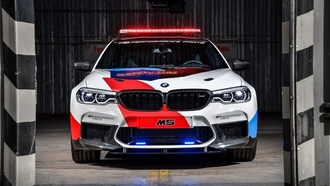 мигалки, bmw m5, motogp, safety car