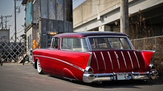 chevrolet, bel air, wagon 1957