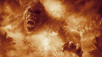 gorilla, film, strong, fire, kong, ong kull sland, animal, fury, flame, movie, fang, spark, angry, cinema