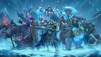 nights f he rozen hrone, ice, armor, wepon, earthstone eroes of arcraft, ken, sword, blade, warhammer, ork, arcraft, warrior, axe