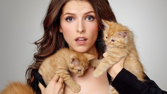 cats, actress, nna endrick, model, kittens, woman, girl, neko, nna
