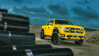 ford, yellow, raptor