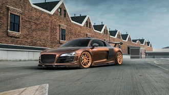 audi, supercharged, tuning, спойлер, диски