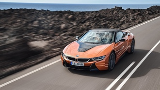 гибрид, bmw i8, sports car, roadster, bmw 2017, родстер