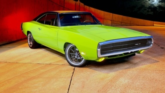 dodege, charger, tuning, green