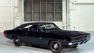 dodge, charger, black, retro