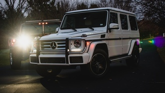 mercedes, hummer, light, white, белый, диски