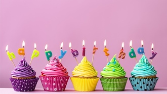 торт, свечи, cake, candle, ень ождения, cupcake, кекс, colorful, celebration, decoration, appy irthday