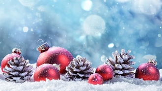 winter, ождество, шары, елка, happy, шишки, украшения, снег, decoration, hristmas, ew ear, erry hristmas, зима, snow, овый од, mas