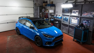 ford, focus, blue, garage, форд, синий