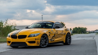 bmw, yellow, sportcar