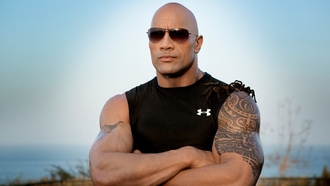 dwayne johnson, дуэйн джонсон, the rock, скала, рестлер, актёр, кинопродюсер, качёк, здоровяк, тату, очки