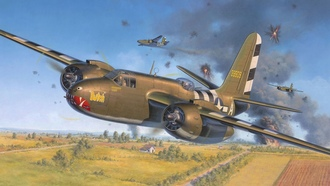 a20 usaf, douglas, ww2 havoc, boston, art