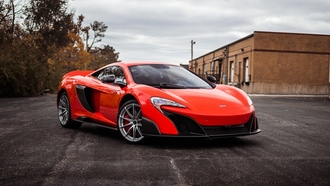 mclaren, orange, supercar, макларен, суперкар