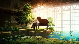 beauty, anime, piano, japanese, music