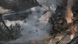 fight, war, kaizoku, kull and ones, ship, pirate, game, pirate ship