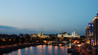 russia, moscow, kremlin, summer, night