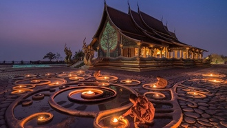 monk, low in the ark, orawee atchapakdee, uddhism, lights, temple, ьянма, yanmar
