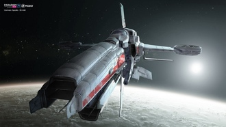 осмос, звёзды, планета, interceptor space ship, аппарат