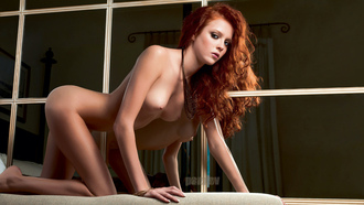hot, naked, redhead girl